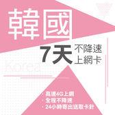 現貨 韓國通用 7天 SKT&KT雙電信 4G 不降速 免開通 免設定 網路卡 網卡 上網卡