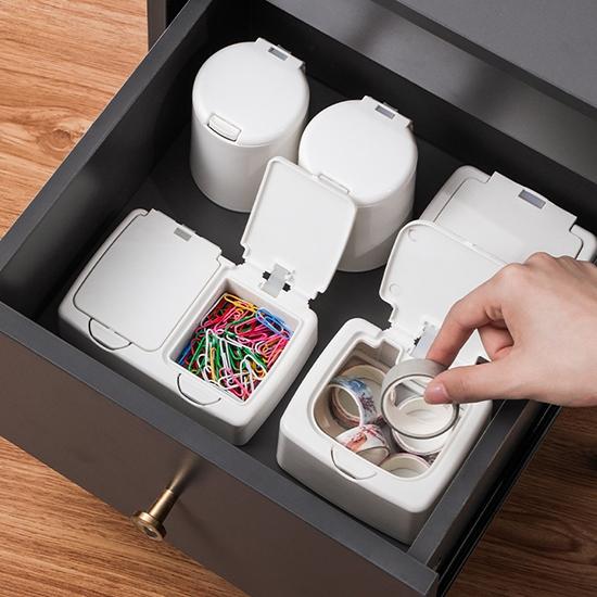收納盒 分裝盒 整理盒 單格 置物盒 彈蓋盒 首飾盒 藥盒 文具盒 防塵收納盒【Q132-1】生活家精品