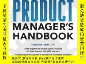 二手書博民逛書店The罕見Product Manager s Handbook