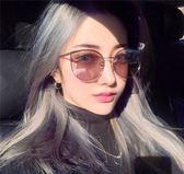 墨鏡/太陽眼鏡 百搭款貓眼輕框太陽鏡個性復古圓臉大框顯瘦街拍遮陽墨鏡 巴黎春天