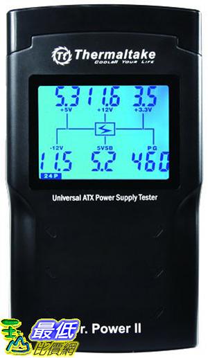 [美國直購] Thermaltake Dr. Power II Automated Power Supply Tester Oversized LCD for All Power Supplies - AC0015