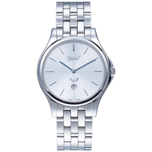 Ogival 瑞士愛其華 都會新時尚石英腕錶/38mm