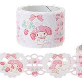 Sanrio 美樂蒂日本製蕾絲風PP裝飾膠帶(浪漫草莓園)★funbox★_445266