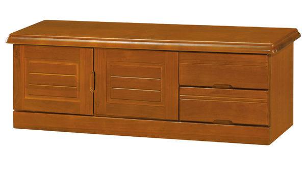 【南洋風休閒傢俱】組合櫃系列 -實木玄關櫃 收納箱 4尺樟木色座鞋櫃 KH305-4