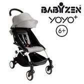 【現貨-第3代】法國 BABYZEN YOYO plus/YOYO+ 6m+嬰兒手推車(白骨架) 灰色