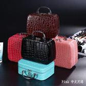 化妝包大容量化妝品收納盒簡約小號便攜手提箱淑女可愛防水 nm3947 【Pink中大尺碼】