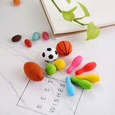 【BlueCat】足球籃球寶齡球橡皮擦 (10入裝)