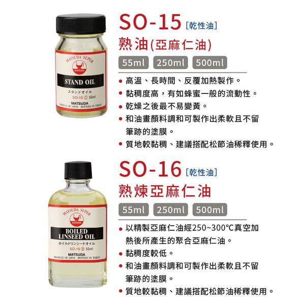 『ART小舖』MATSUDA日本松田 SUPER超級油畫媒介系列 12日曬POPPY OIL 500ml 單瓶