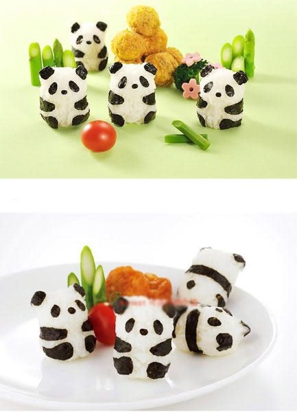 Qmishop 熊貓仔仔飯團模 可愛熊貓寶寶飯糰壓模 模具組【J1747】