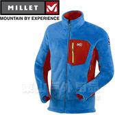 Millet MIV5575-6598天粉藍/紅 男 TRILOGY X LOFT 刷毛外套