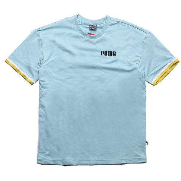 PUMA 短袖 CELEBRATION 水藍 棉T 短T 男 (布魯克林) 58415518