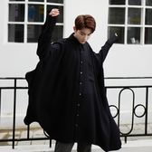 長袖襯衫-純色時尚不規則版型超寬鬆男上衣2色73po25[巴黎精品]