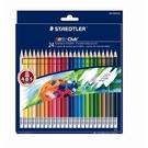 STAEDTLER MS14450NC24可擦式色鉛筆24色紙盒裝