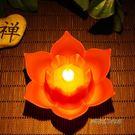 電池式蓮花燈荷花供佛河燈led觀音菩薩法會寺廟祈福長明燈節能「時尚彩虹屋」