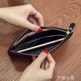 新款韓版頭層牛皮真皮長款女士錢包軟皮超薄時尚簡約錢夾拉錬      芊惠衣屋