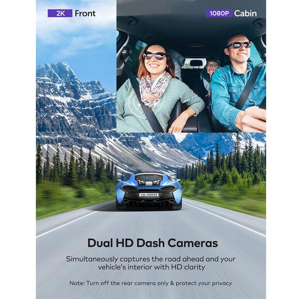 [9美國直購] 行車記錄儀 VAVA 2K Front and Rear Dual Dash Cam