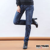 BIG TRAIN 墨達人祥雲BF褲-女-中藍