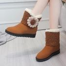 雪地靴 加絨加厚雪地靴女短靴冬2021年新款厚底防寒短筒百搭學生保暖棉鞋 維多原創