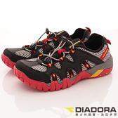 【DIADORA】全方位戶外水陸鞋款-DA7AMO5350-黑灰紅-男段(預)