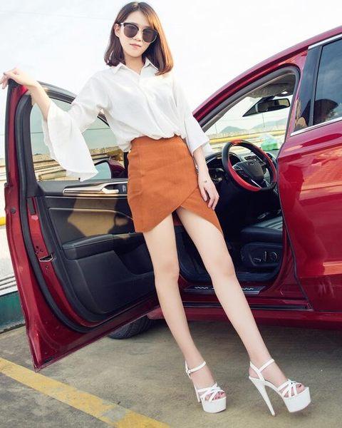 15cm超高跟鞋女夏2019新款細跟涼鞋