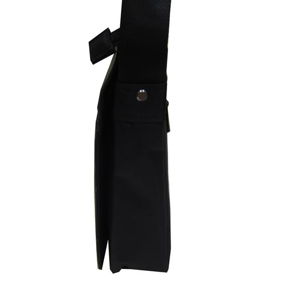 ~雪黛屋~DANDY 斜側包扁型8吋電腦中容量防水尼龍布+皮革磁扣蓋式主袋+外袋共五層DD1892