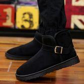 冬季男靴子韓版情侶雪地靴男冬鞋面包鞋保暖男棉鞋潮流短靴男棉靴『新佰數位屋』