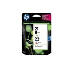 HP NO.21/21+NO.22/22 黑+彩 組合包 原廠墨水匣 盒裝 D2360/D2460/F380/F2120/F4185/4355