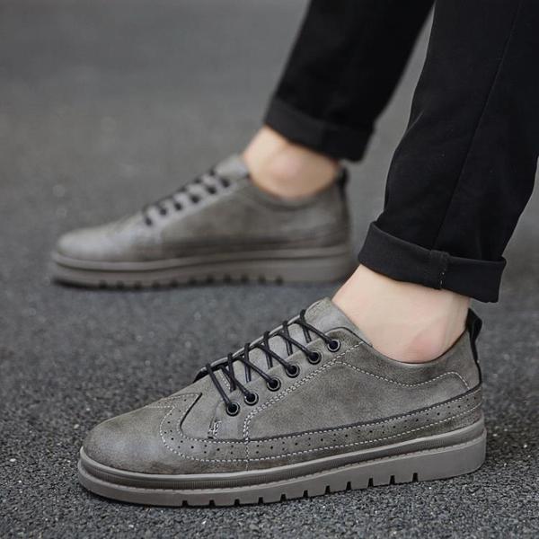 皮鞋好康新品秋季男鞋子英倫增高皮鞋男士正韓潮流休閒鞋百搭潮鞋板鞋