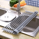 [拉拉百貨]矽膠摺疊瀝水架 跨境熱銷 厨房置物架 水槽碗筷碗架碗碟濾水架