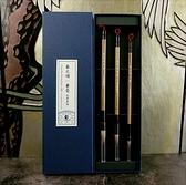 【中華筆莊】春之頌兼毫毛筆套組 禮盒 - 大中小楷3入 - 台灣品牌 -盒裝