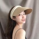 鴨舌帽 韓版新款女夏空頂草帽ins雪梨同款帽子遮陽防曬鴨舌帽出游太陽帽寶貝計畫 上新