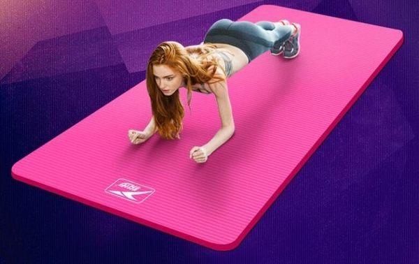 悅步瑜伽墊男女初學者15mm加厚加寬加長防滑瑜珈健身墊無味MKS摩可美家