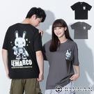 【OBIYUAN】短袖T恤 厚磅16支上衣 3D 立體感 兔子 衣服 2色【X25086】
