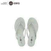 QWQ創意鞋-尊榮灰 皮感編織人字拖鞋-(PU系列 )