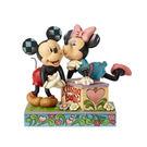 《Enesco精品雕塑》迪士尼米奇米妮甜蜜親吻攤塑像-Kissing Booth(Disney Traditions)_EN95604