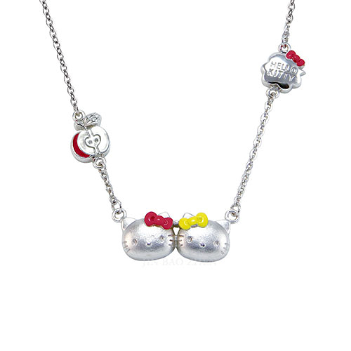 Hello Kitty凱蒂貓-家族派對-純銀項鍊