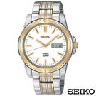 SEIKO精工  商務風尚雙色調太陽能石英腕錶 SNE094P1