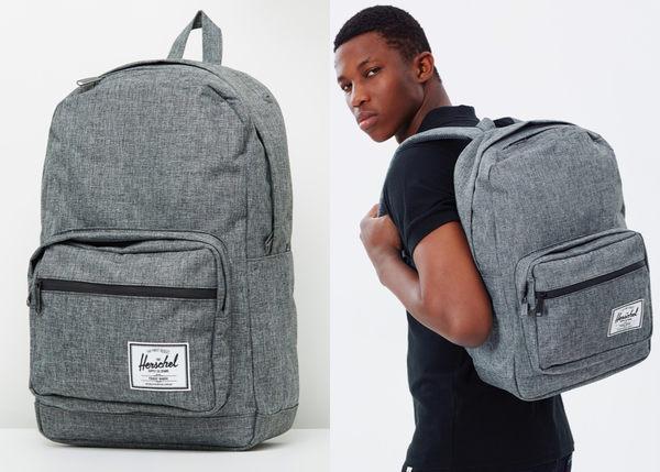 Hsin 84折 現貨 Herschel Pop Quiz 灰黑 灰色 黑色 防水拉鍊 帆布 筆電 多夾層 大容量 後背包
