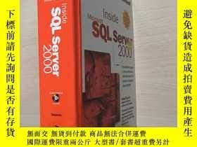 二手書博民逛書店英文原版罕見inside Microsoft SQL Serve