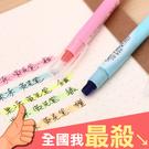 重點筆 彩色筆 辦公用品 筆記標記 韓版文具 旋轉筆 文具 可水洗 固體螢光筆 米菈生活館【M175】