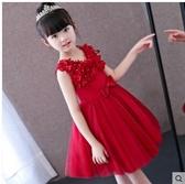 小鄧子女童公主裙鋼琴演出服小主持人兒童禮服裙婚紗花童公主蓬蓬裙春夏