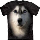 【摩達客】 (預購)美國進口【The Mountain】Classic自然純棉系列 哈士奇犬臉設計T恤(10412045001a)