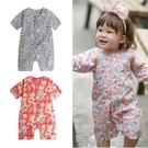 Augelute Baby童衣 前開釦日系短袖連身衣 男寶寶 女寶寶 短袖爬服 20001