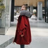 棉服女冬季寬鬆工裝加絨加厚保暖棉衣棉襖外套【雲木雜貨】
