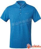 Wildland 荒野 0A61652-52海藍色 男雙色POLO領排汗上衣 抗紫外線/多功能/登山旅遊/吸濕快乾/機能