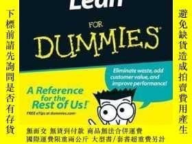 二手書博民逛書店Lean罕見For DummiesY410016 Natalie J. Sayer,... ISBN:978