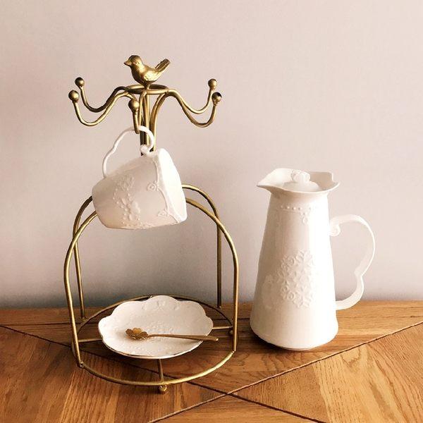 [超豐國際]歐式浮雕蝴蝶夫人早餐杯 辦公室 馬克杯 水杯 咖