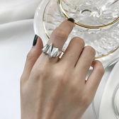 韓國簡約飾品銀閃電造型戒指港風街頭酷戒指開口可調節 小巨蛋之家