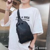 正韓男士胸包小包 青年背包 休閒戶外騎行背包潮流時尚胸包潮 樂芙美鞋