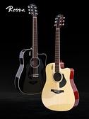 吉他 Rosen盧森G12NA民謠吉他初學者面單板女男生專用41寸新手木吉它 夢藝家